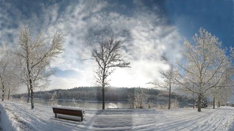 Fresh Snow Bow River