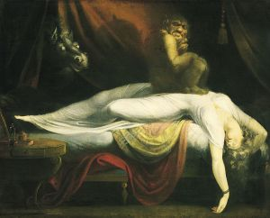 http://commons.wikimedia.org/wiki/File:John_Henry_Fuseli_-_The_Nightmare